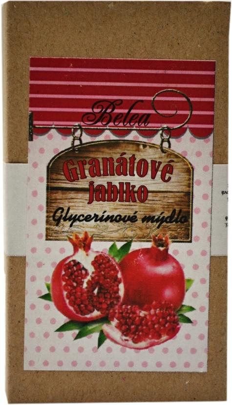 Glycerínové mýdlo granátové jablko 90g