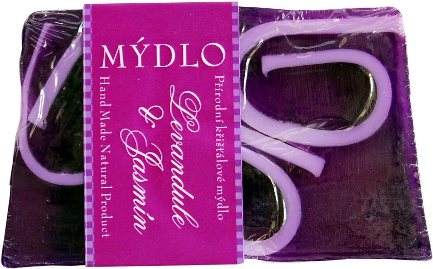 levandule s jasmínem fialová mozaika s bílými vruty-blok mýdla 1,5kg ke krájení