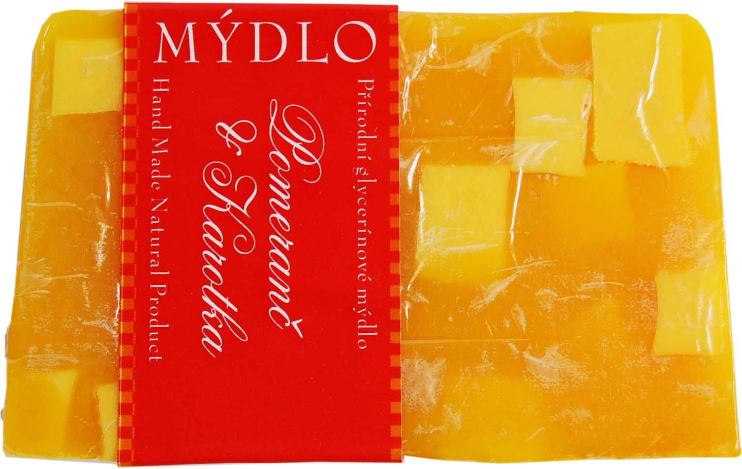 sicilský pomeranč s kořením oranž glitr h.kostka-blok mýdla 1,5kg ke krájení