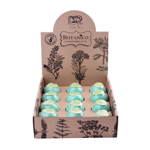 BOTANICO koupelová koule zelený čaj 50g displej 12 ks