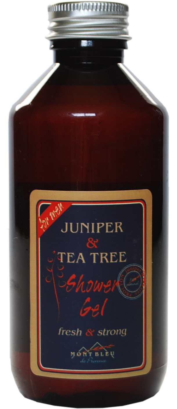 Sprchový gel jalovec a tea tree -MONT BLEU pro muže