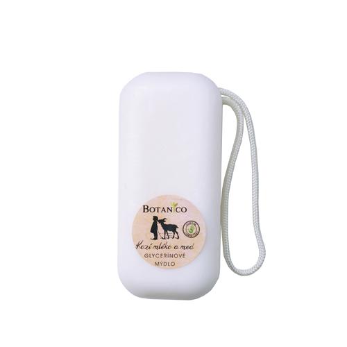Glycerínové mýdlo s kozím mlékem a medem - 200g se závěsem