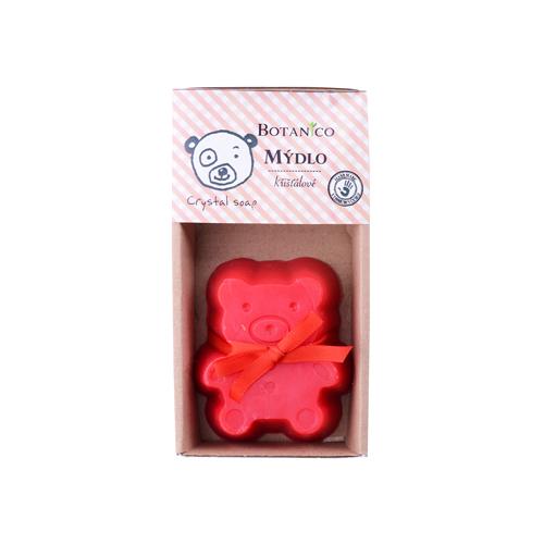 Mýdlo dětské  křišťálové medvídek  BOTANICO 85g červený