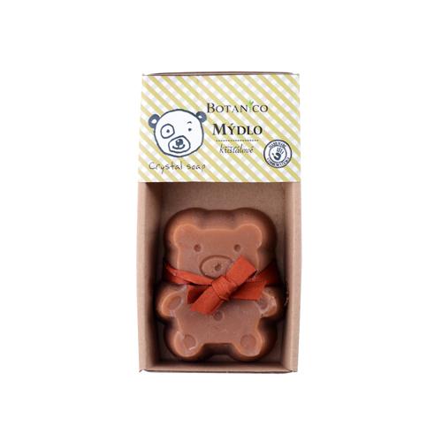 Mýdlo dětské  křišťálové medvídek  BOTANICO 85g hnědý