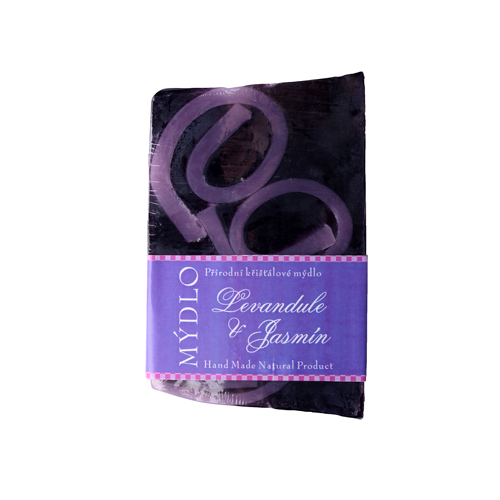 levandule s jasmínem fialová mozaika s bílými vruty-100g