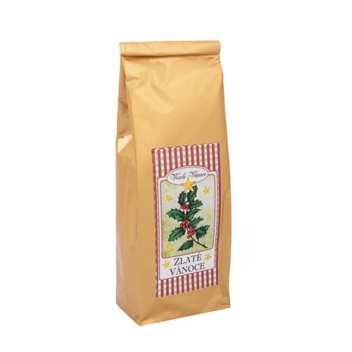 Zlaté vánoce ovocný čaj aromatický -zlatý sáček 70g