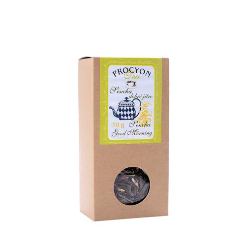 Zelený čaj aroma - SENCHA DOBRÉ JITRO - krabička 70g