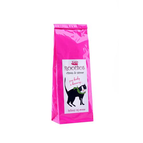 Citrón se zázvorem-rooibos aromatizovaný bylinný čaj -PRO KOČKY A KOCOURY 70g