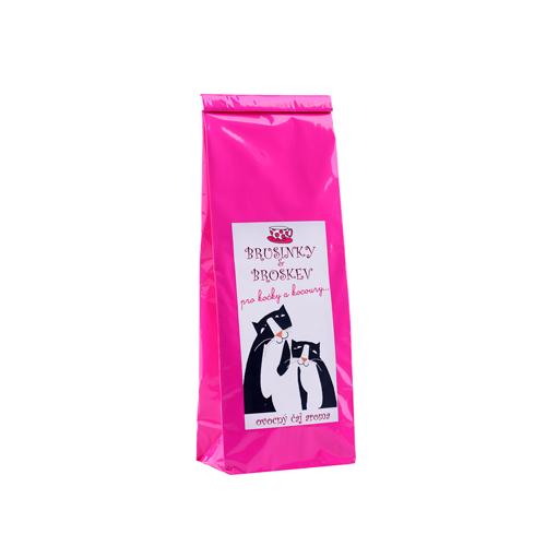Brusinka a broskev-ovocný aromatický čaj -PRO KOČKY A KOCOURY 70g