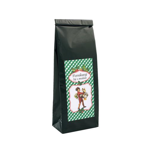 Vánoční perníkový čaj s medem, zelený čaj a koření, sáček 70g