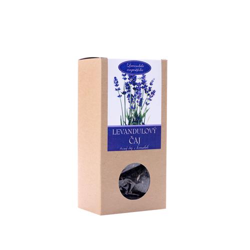 Levandulový čaj 70g -černý čaj s levandulí krabička