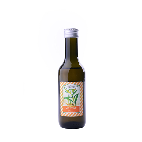Bylinný sirup / Zázvor podpora trávení -zažívací sirup 185 ml