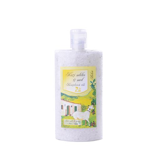 Koupelová sůl  s kozím mlékem a medem plast 250ml