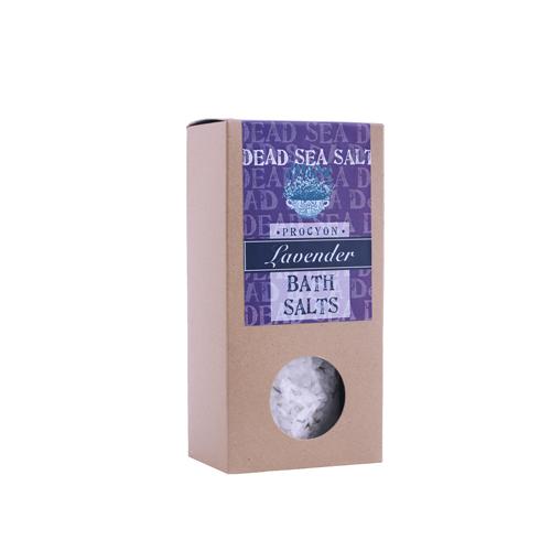 Sůl mrtvé moře 200g krabička s okénkem levandule