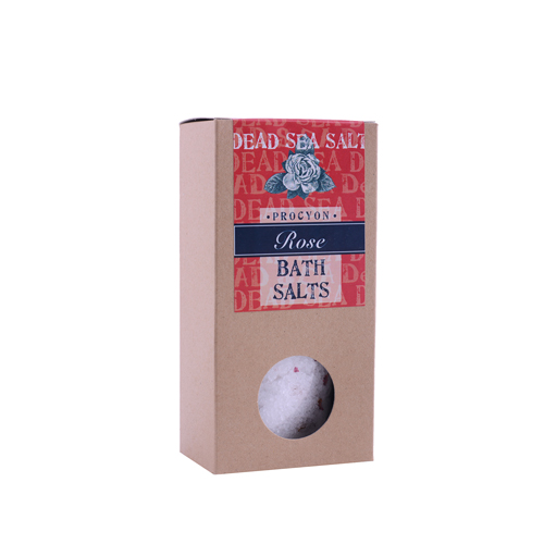 Sůl mrtvé moře 200g krabička s okénkem růže