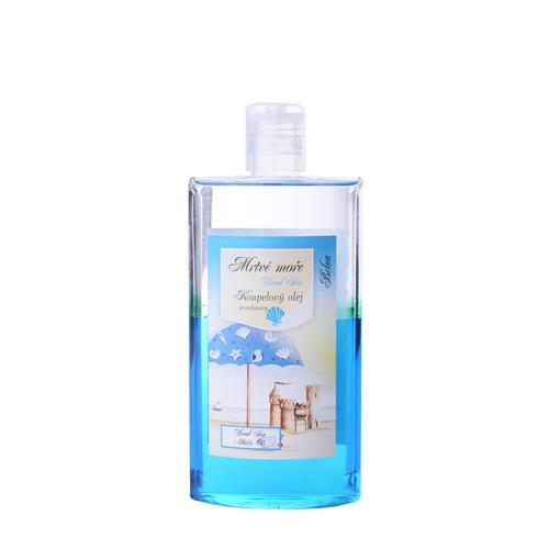Koupelový olej dvoufázový s glycerínem a minerálním olejem se solí z mrtvého moře