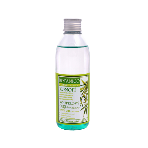 Konopí-Koupelový olej dvoufázový s minerály mrtvého moře relaxační 200ml BOTANIC