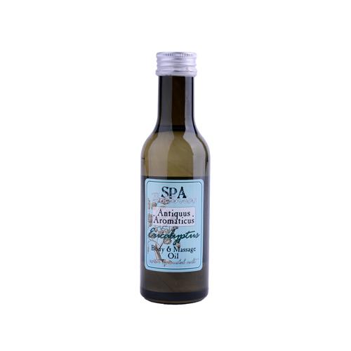 Tělový masážní olej s vřídellní solí -eucalyptus  185 ml