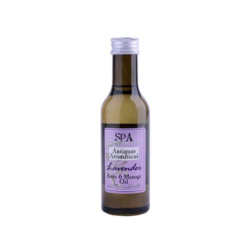 Tělový masážní olej s vřídellní solí -levandule  185 ml