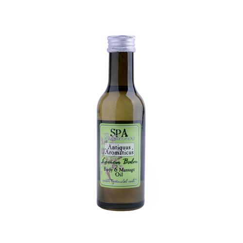 Tělový masážní olej s vřídellní solí -meduňka  185 ml