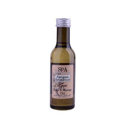Tělový masážní olej s vřídellní solí -růže  185 ml