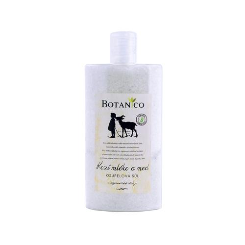 BOTANICO-Koupelová sůl  s kozím mlékem a medem plast 250ml